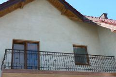 Duża balustrada balkonowa ze zdobieniami