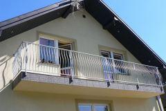 Srebrna balustrada balkonowa