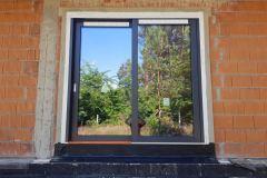 Drzwi zewnętrzne przesuwne - montaż